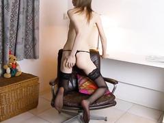 Порно тощая тетя